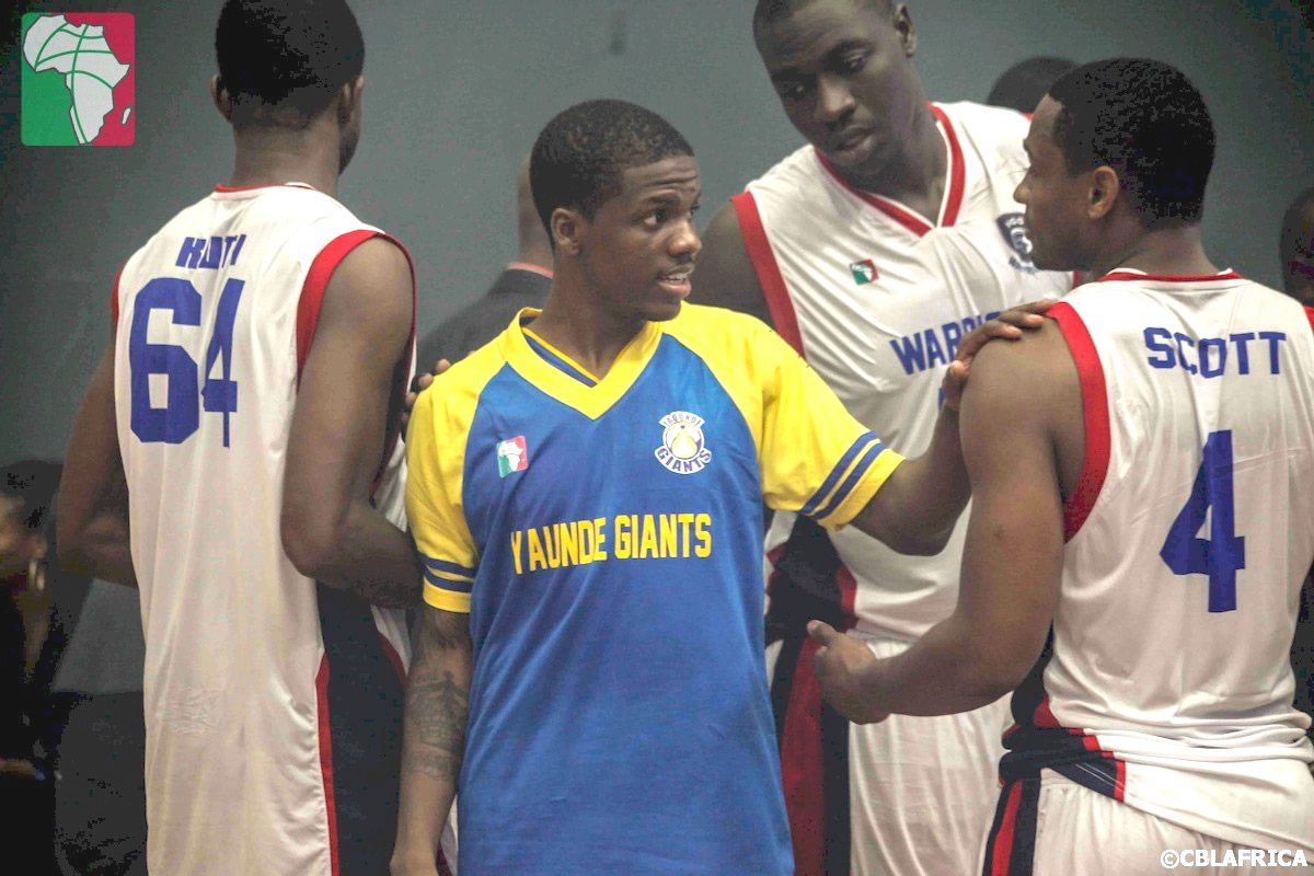 CBL Game 01-Giants Guard Esters Lanerryll talking with Warriors